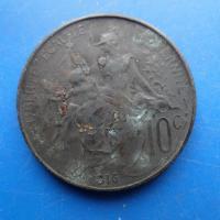 10 centimes dupuis 1916