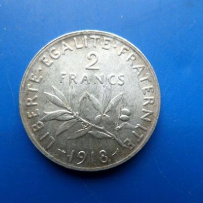 2 franc argent 1918