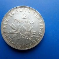 2 francs argent 1915
