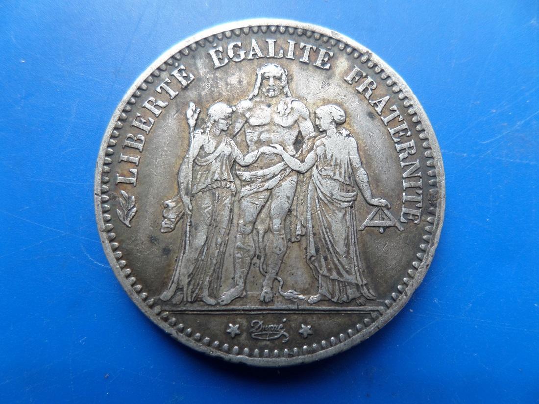 5 francs argent 1876 a hercule