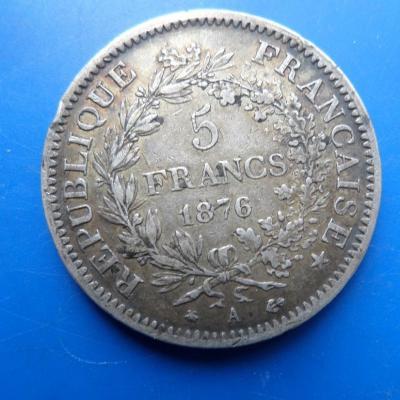 5 francs argent hercule 1876 a
