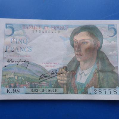 5 francs berger 28778