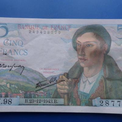 5 francs berger 28779