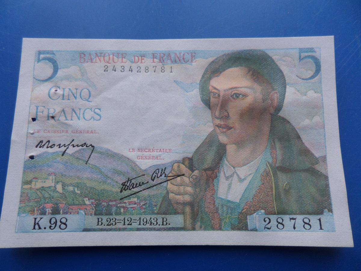 5 francs berger 28781