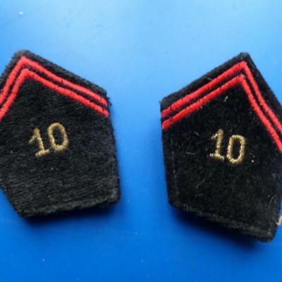 Patte de col 10 regiment de genie
