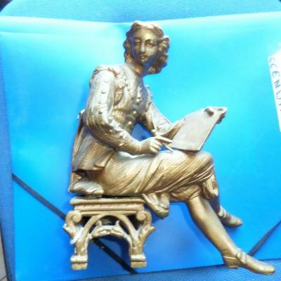 Statuette bronze dore pendule
